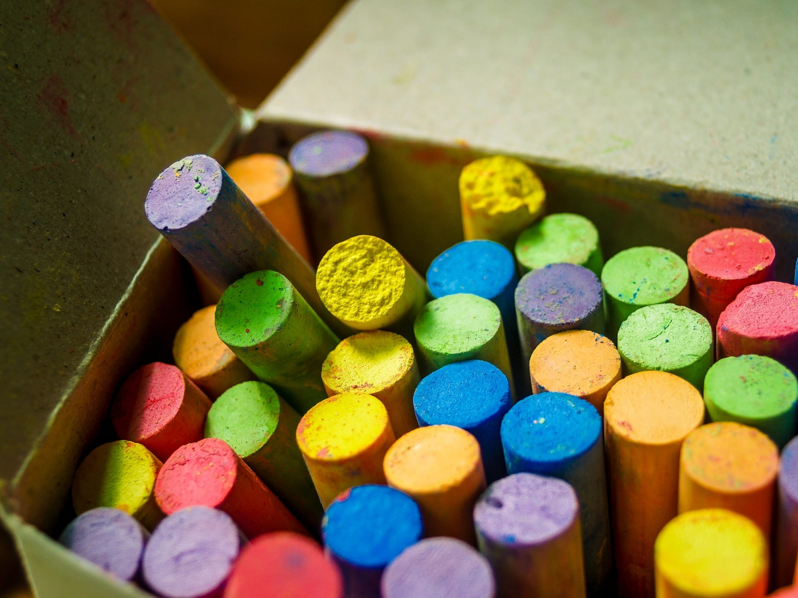 colourful chalks created in chalk making business